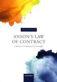 Jack Beatson et Andrew Burrows - Anson's Law of Contract.