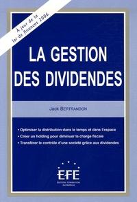 Deedr.fr La gestion des dividendes Image