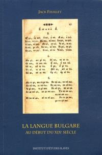 Galabria.be La langue bulgare au début du XIXe siècle Image