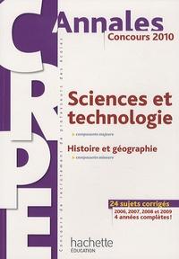 Jack Guichard et Marc Antoine - CRPE Sciences et la technologie 2010 - Histoire et géographie.