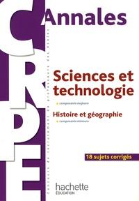 Deedr.fr Sciences et technologie, composante majeure - Histoire et géographie, composante mineure Image