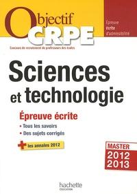 Jack Guichard et Marc Antoine - Sciences et technologie - Epreuve écrite d'admissibilité.