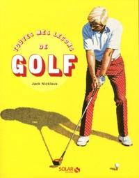 Toutes mes leçons de golf - Jack Nicklaus pdf epub