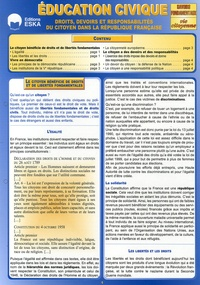 Jacky Desquenes - Education civique - Droits, devoirs et responsabilités du citoyen dans la République française.