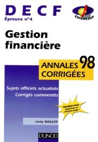 Deedr.fr DECF épreuve n° 4 Comptabilité et gestion financière Image