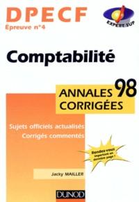 DPECF épreuve n° 4 Comptabilité. Annales corrigées 1998, Sujets officiels actualisés, Corrigés commentés.pdf