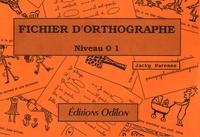 Jacky Varenne - Fichier d'orthographe 1.