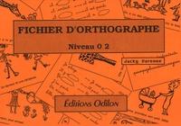 Jacky Varenne - Fichier d'orthographe 2.