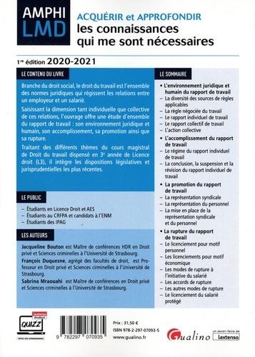 Cours de droit du travail  Edition 2020-2021