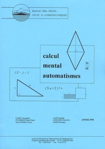 Jacqueline Caney - Calcul mental automatismes.