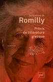 Jacqueline de Romilly - Précis de littérature grecque.