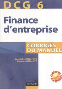 Alixetmika.fr Finance d'entreprise DCG6 - Corrigés du manuel Image
