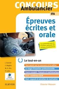 Jacqueline Gassier et Françoise Magère - Concours ambulancier - Epreuves écrites et orales.