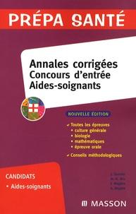Jacqueline Gassier et Marie-Henriette Bru - Concours d'entrée aides-soignants - Annales corrigées.