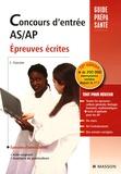 Jacqueline Gassier et Jean-Bernard Allardi - Concours d'entrée AS-AP - Epreuves écrites.