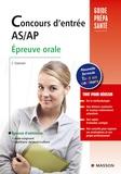 Jacqueline Gassier - Concours d'entrée AS/AP - Epreuve orale.