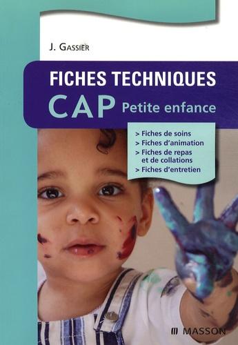 Fiches techniques CAP Petite enfance 4e édition