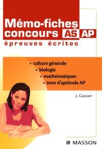Jacqueline Gassier et Jean-Bernard Allardi - Mémo-fiches concours AS/AP - Epreuves écrites.