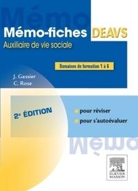 Jacqueline Gassier et Céline Rose - Mémo-fiches DEAVS.