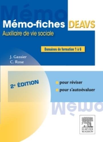 m u00e9mo-fiches deavs de jacqueline gassier - livre