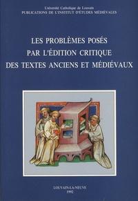 Jacqueline Hamesse - Les problèmes posés par l'édition critique des textes anciens et médiévaux.