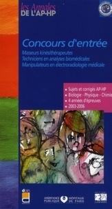 Concours d'entrée Masseurs kinésithérapeutes, techniciens en analyses biomédicales, manipulateurs en électroradiologie médicale- Sujets et corrigés 2003-2006 - Jacqueline Labreure |