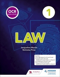 Jacqueline Martin et Nicholas Price - OCR AS/A Level Law Book 1.
