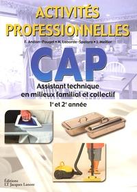 Jacqueline Meiller et Françoise Ancian-Pauget - CAP Assistant Technique en Milieux Familial et Collectif 1e et 2e année - Activités professionnelles.