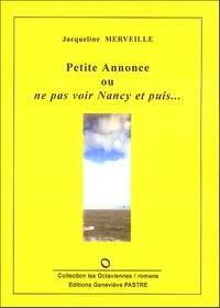 Jacqueline Merveille - Petite annonce ou ne pas voir Nancy et puis....