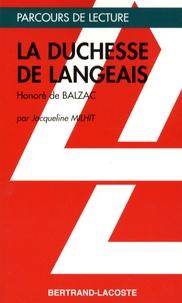 Jacqueline Milhit - La Duchesse de Langeais - Honoré de Balzac.