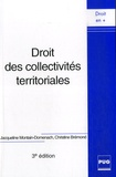 Jacqueline Montain-Domenach et Christine Bremond - Droit des collectivités territoriales.