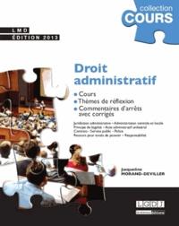 Jacqueline Morand-Deviller - Droit administratif - Cours, thèmes de réflexion, commentaires d'arrêts avec corrigés.