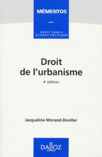 Droit de l'urbanisme 4e édition