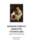 Jacqueline Peker - Homéopathie en médecine vétérinaire.