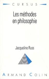 Les méthodes en philosophie - Jacqueline Russ pdf epub