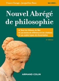 Jacqueline Russ et France Farago - Nouvel abrégé de philosophie - 6e éd. - Bac série L.
