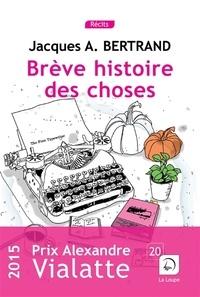 Jacques-A Bertrand - Brêve histoire des choses.