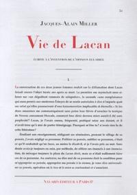 Jacques-Alain Miller - Vie de Lacan.