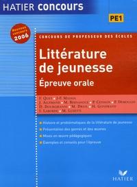 Jacques Allemand et Marie Bernanoce - Littérature de jeunesse - Epreuve orale.