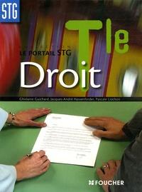 Jacques-André Hassenforder et Ghislaine Guichard - Droit Tle STG.