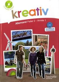 Jacques Athias et Fabienne Fédou - Kreativ Allemand palier 2, année 1 - Livre de l'élève. 1 CD audio
