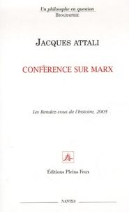 Jacques Attali - Conférence sur Marx.