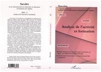 Jacques Aubret - Savoirs n°8 : analyse de l'activité et formation.