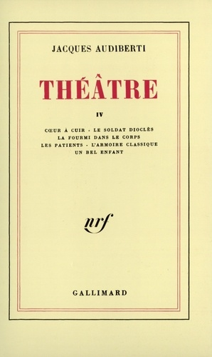 Jacques Audiberti - Théâtre - Tome 4.
