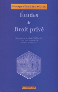 Jacques Azéma et Alain Bienaymé - Etudes de Droit privé - Mélanges offerts à Paul Didier.