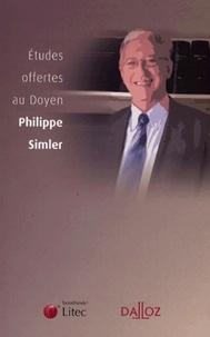 Jacques Béguin et Rémy Cabrillac - Etudes offertes au Doyen Philippe Simler.