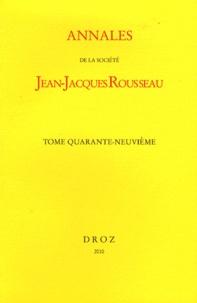 Jacques Berchtold - Annales de la Société Jean-Jacques Rousseau - Tome 49.