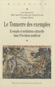 Jacques Berlioz et Marie-Anne Polo de Beaulieu - Le tonnerre des exemples - Exempla et médiation culturelle dans l'Occident médiéval.