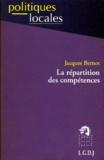 Jacques Bernot - La répartition des compétences.