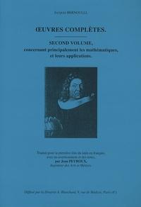 Corridashivernales.be Oeuvres complètes - Second volume concernant principalement les mathématiques, et leur application Image